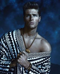One of the shots of the mens S/S 2013 campaign for Versace shot by Mert & Marcus.
