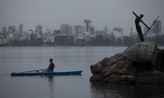 Dia amanhece nublado no Rio Foto: Guilherme leporace / Agência O Globo