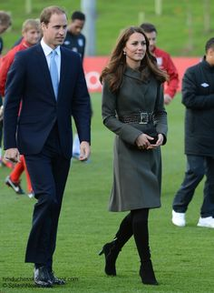 Duchess Kate: Year In Review: 2012 In October, the Duke and Duchess of Cambridge visited St George's Park for the official opening of the Football Association's new facility in Burton-Upon-Trent in Staffordshire.