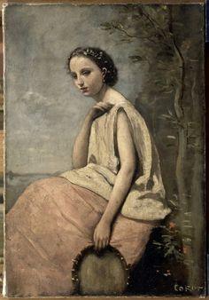 Camille Corot (1796-1875, France) | Zingara (Paris, Louvre)