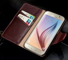 Cheap case desktop, Buy Quality case lures directly from China case logic cell phone cases Suppliers: TOP Luxury Fashion Genuine Leather Flip Mobile Phone Case for Samsung Galaxy Wallet Stand Holster Cover Bag Flip Mobile Phones, Mobile Phone Cases, Leather Phone Case, Leather Wallet, Samsung Cases, Samsung Galaxy S6, Phone Store, Newest Cell Phones, Leather Cover