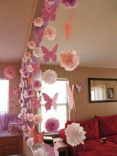 más y más manualidades: Decoraciones de fiesta con papel de seda