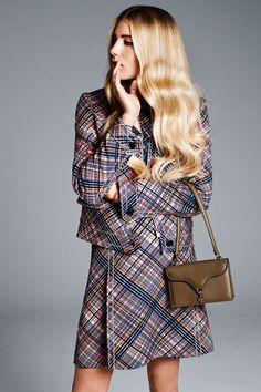 Model Dree Hemingway - Prints Meet Polish - Prada costume