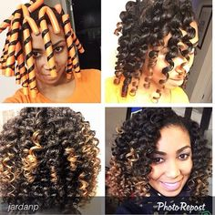 No heat. Flexi rod spiral curls