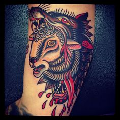 Morten Transeth as featured on Swallows & Daggers. www.swallowsndaggers.net #tattoo #tattoos #wolf