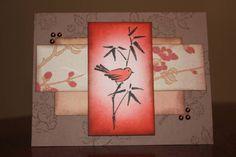 handmade card ... Asian theme ...