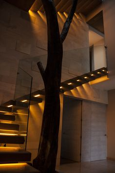 1000 images about muros on pinterest fuentes de agua - Iluminacion escaleras interiores ...