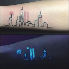 Day light/UV light. Awesome idea for tattoo of New York skyline and twin towers. I hope I'll see it in your music videos @jax. You are so talented keep it going girl!