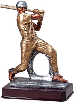 145 Multi Color Baseball Trophy