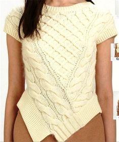 Блузка с эффектной отделкой спереди