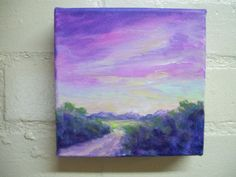 Mini canvas purple landscape