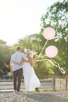 You + Me + Pretty Pink Balloons  #creative #engagement #fun #balloons #toronto #beaches #brightsidefilms