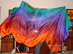 "Sahariah's Silk Belly Dance Veil Rectangle original ""Killer Silk"" 3 Yard Rectangle Veil by SilksbySahariah on Etsy"