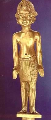 Gold Head of Staff in Tutankhamun's Image
