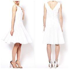 ☆Host Pick☆ Broderie 50's Style Dress London based Boutique by Jaeger dress. A dream for summer time! Lightweight, breezy, feminine, versatile. Runs a bit small. Mint condition. Jaeger  Dresses Midi