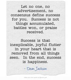 Success ~ Dean Jackson