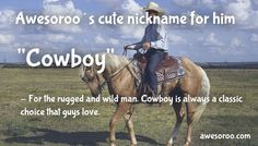 cowboy name for him