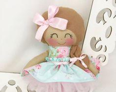 Rag Dolls Handmade Doll Fabric Doll Cloth Doll by SewManyPretties