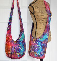Hobo Bag Boho Bag Hippie Purse Crossbody Bag Sling by Hippie Purse, Hippie Bags, Boho Bags, Hobo Crossbody Bag, Shoulder Strap, Tie Dye, Purses, Diy, Shopping