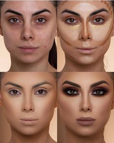 37 Easy Steps Makeup For Beginners To Make You Look Great After you master the step-by-step makeup tutorial you can begin experimenting with distinctive looks. Simple makeup advice for beginners inclu Contour Makeup, Beauty Makeup, Eye Makeup, Makeup Steps, Beauty Tips, Soft Makeup, Makeup Guide, Highlighter Makeup, Makeup Inspo