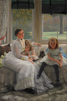 The art of James Tissot   James_Tissot_-_Portrait_of_Mrs_Catherine_Smith_Gill_and_Two_of_her ...
