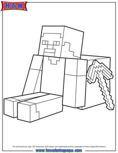 Flying Herobrine Coloring Page Coloring Pages Minecraft