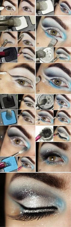 Silver and Crystal Makeup Tutorials Below  Step by Step