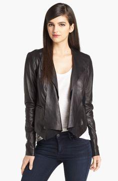 Trouvé Draped Leather Jacket | Nordstrom