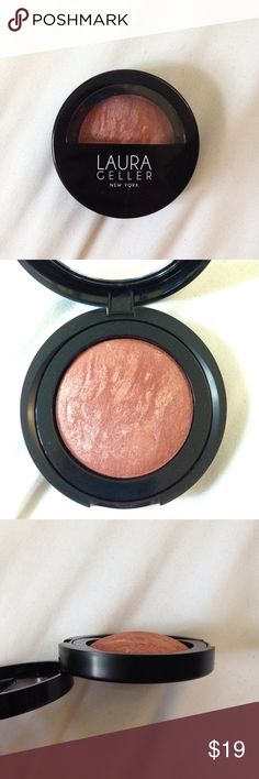 """NEW LAURA GELLER BLUSH 💗 NEVER USED 💗 Brand new Laura Geller baked blush -N- brighten in shade """"Pink Grapefruit""""🍊Swatched ONCE, but the shade does not suit my skin tone - hopefully someone else will enjoy this beautiful blush!💖 *doesn't include original box sorry! Laura Geller Makeup Blush"""