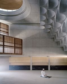 Brutalist mosque in Sydney features ceiling with 102 concrete vaults - Projects. - Brutalist mosque in Sydney features ceiling with 102 concrete vaults – Projects, Contemporary Mo - Architecture Design, Australian Architecture, Islamic Architecture, Contemporary Architecture, Public Architecture, Architecture Sketches, Concrete Architecture, Architecture Wallpaper, Architecture Portfolio