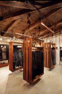 suspended wood fixtures