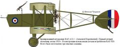 AE.3 Ram Unit: The armoured attack aircraft (Armoured Experimental). The first prototype, Spring 1918. The airplane ...