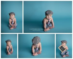 6 month studio session Captured by Kay Photography Weyburn, SK First Photograph, Photographing Babies, Blue Backgrounds, Mom And Dad, 6 Months, Dads, Memories, Fun, Photos
