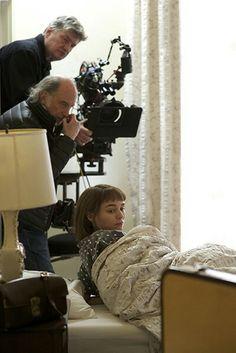 Carol movie set -Rooney Mara