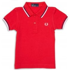 FRED PERRY MY FIRST SHIRT RED 6-12M