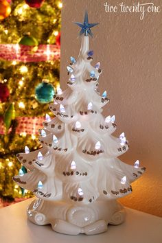 white ceramic christmas tree..... love this
