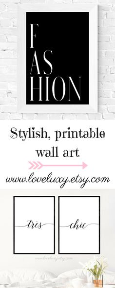 Check out stylish printable wall art at LoveLuxy, Etsy. The perfect decor for your bedroom, kitchen, living room, office, etc. Interior design | Bedroom Decor | Office Decor | Office Goals | Printable wall art | Wall Art | Bedroom Design Ideas | Decor inspiration | Bedroom Design Inspiration | Fashion Wall Art | Stylish Bedroom | Stylish bedroom Decor | home decor #bedroomideas #decorideas #bedroom