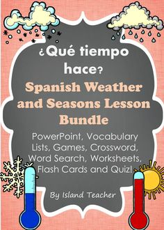 Bundle of resources to teach Spanish weather expressions and seasons.