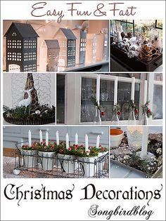 easy, fast and fun Christmas decorations Songbirdblog