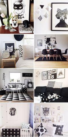 Decoração – Preto e Branco, um clássico!