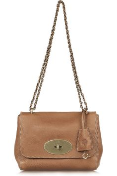 Mulberry leather shoulder bag--love the clasp detail!