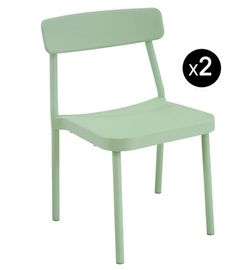 Grace Outdoor Stackable chair - Set of 2 - Exhibition model Sage green by Emu - Design furniture and decoration with Made in Design