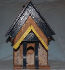 Reclaimed Barn Wood Birdhouse, Artisan, Recycled, Handcrafted, Rustic