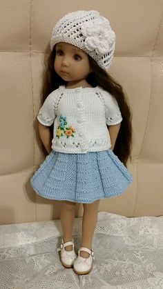 """Handknitted outfit for Dianna Effner Little Darling 13"""" 