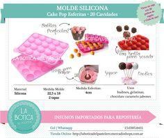 Categoría: Moldes Silicona, cake pop, tortas, muffins, chocolateros Producto: Molde cake pop esferas Presentacion: 1 molde de 20 cavidades Importado