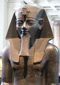 """Amenhotep III (Amenophis; Amāna-Ḥātpa, """"Amun is Satisfied""""; Amenhotep the Magnificent) was the 9th pharaoh of the 18th dynasty. His reign was a period of prosperity and splendour, when Egypt reached the peak of her artistic and international power. Amenhotep III was the father of two sons with his Great Royal Wife Tiye, a queen considered the progenitor of monotheism through her first son, Crown Prince Thutmose, and second son, Amenhotep IV (Akhenaten)."""