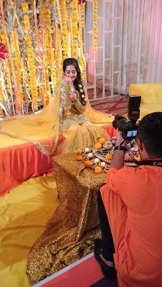 Ghanu❤ Walima Dress, Mehndi Dress, Shadi Dresses, Pakistani Dresses Casual, Pakistani Wedding Dresses, Kids Party Wear Dresses, Aiman Khan, Bridal Dress Design, Wedding Dresses For Girls
