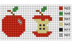 Apple cross stitch chart