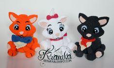 Krawka: Aristocats - Marie, Belioz, Toulouse - crochet pattern for all 3 kittens