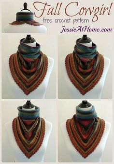 Fall cowgirl free #crochet cowl pattern from @jessie_athome